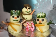 Cheesy Mash Potato Snowmen