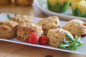 Cheese, Bacon & Sundried Tomato Scones