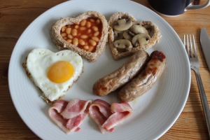 Hearts and a cooked breakfast!